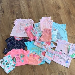 HUGE bundle, all 12 months carters pajama sets